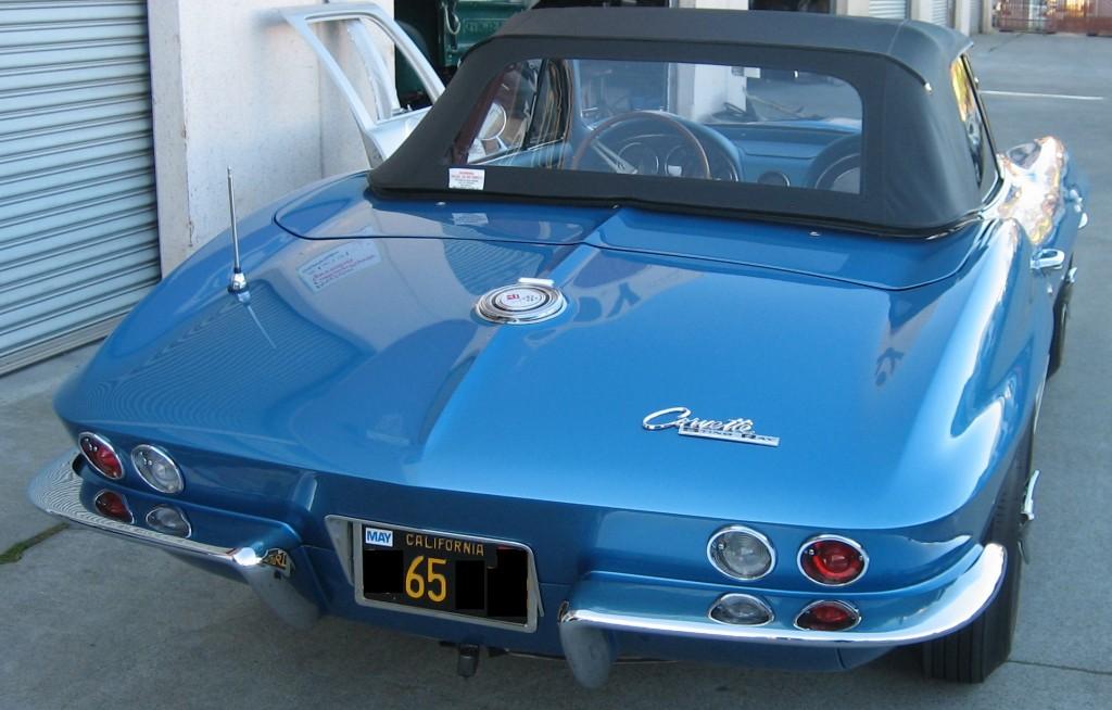 1965 Corvette (rear) - Classic Car Restoration - Morgan Hill Auto Body